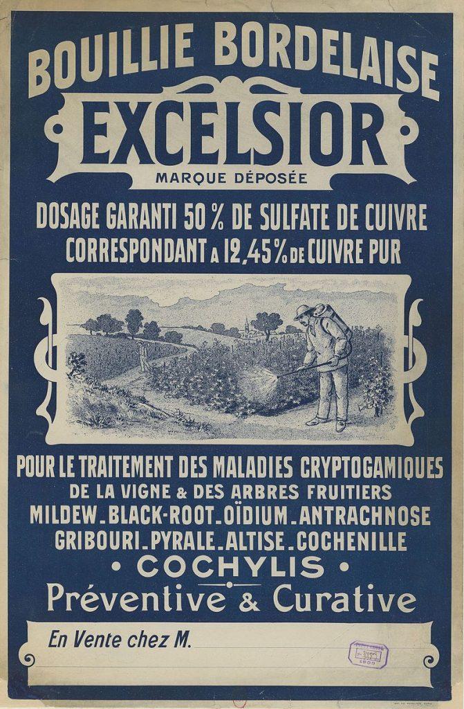 Affiche de publicite de la Bouillie bordelaise de 1903